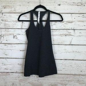 Lululemon striped gray black racerback top